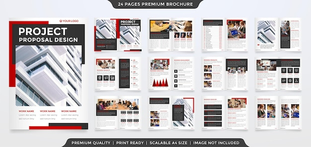 Modelo de folheto a4 empresarial bifold
