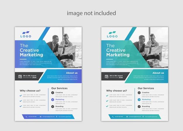 Modelo de folheto a4 empresarial