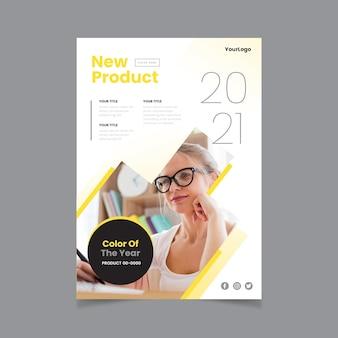 Modelo de folheto a5 com cor do ano 2021