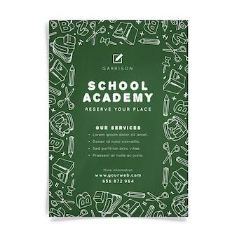 Modelo de folheto a5 da escola escolar