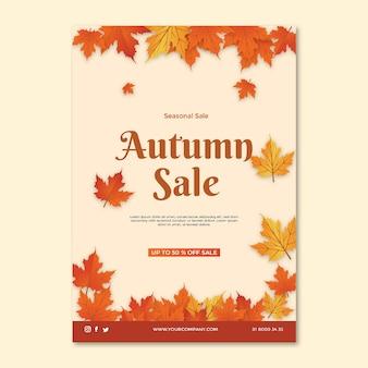 Modelo de folheto a5 do meio do outono