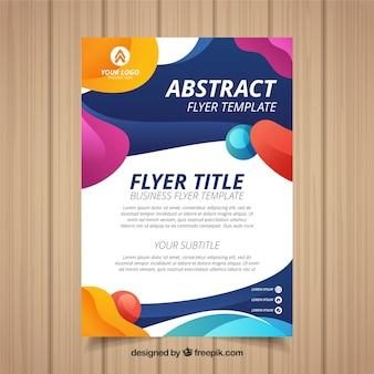Modelo de folheto abstrata com estilo colorido