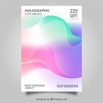 Modelo de folheto abstrata com estilo gradiente
