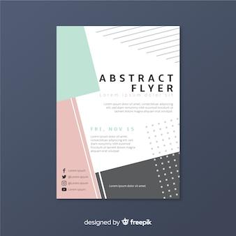 Modelo de folheto abstrata
