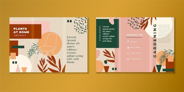Modelo de folheto abstrato com três dobras