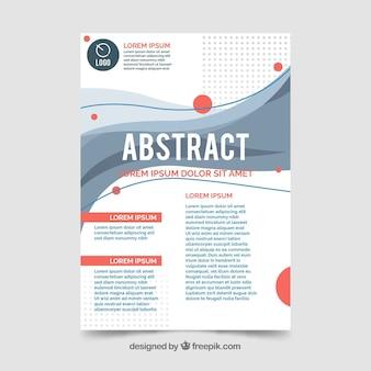 Modelo de folheto abstrato moderno com formas coloridas