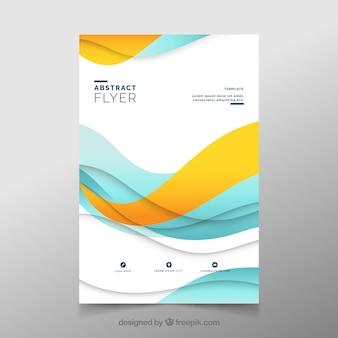 Modelo de folheto abstrato moderno