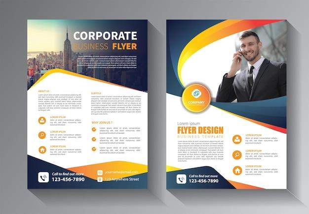 Modelo de folheto abstrato para relatório anual e livro de capa