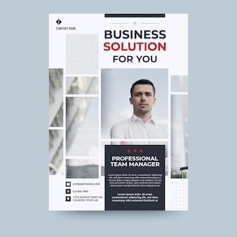 Modelo de folheto - avatar empresário negócios