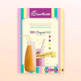 Modelo de folheto - bar de smoothie orgânico de desintoxicação