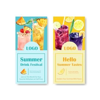 Modelo de folheto - bebida de verão