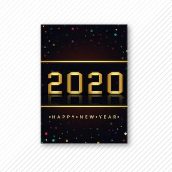 Modelo de folheto bonito 2020