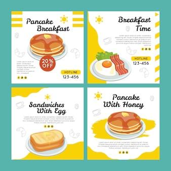 Modelo de folheto - café da manhã