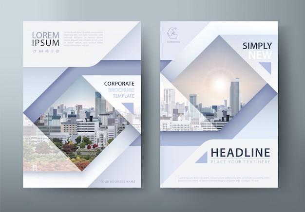 Modelo de folheto, capa de livro, layout em tamanho a4.