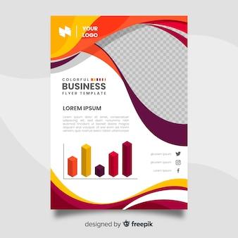 Modelo de folheto colorido de negócios