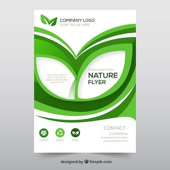 Modelo de folheto com informações sobre a natureza