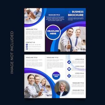 Modelo de folheto com três dobras de negócios