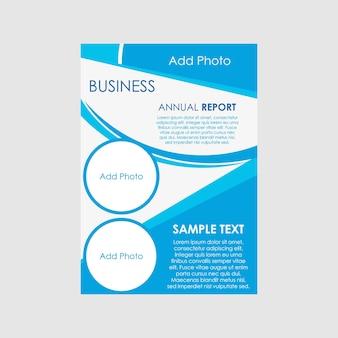 Modelo de folheto comercial com espaço para texto