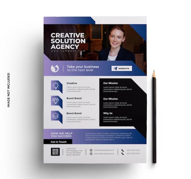 Modelo de folheto comercial com foto