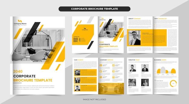 Modelo de folheto comercial ou layout de folheto da empresa design folheto de perfil da empresa