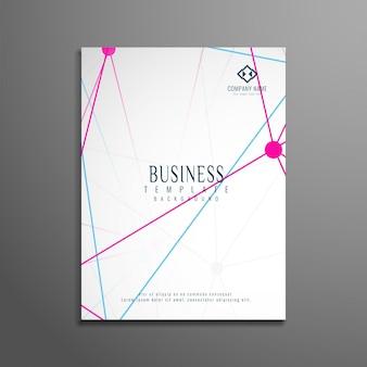Modelo de folheto comercial tecnológico abstrato
