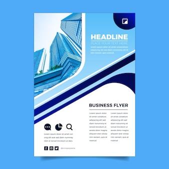 Modelo de folheto comercial vertical