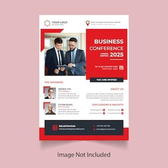 Modelo de folheto - conferência de negócios