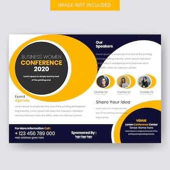 Modelo de folheto - conferência horizontal