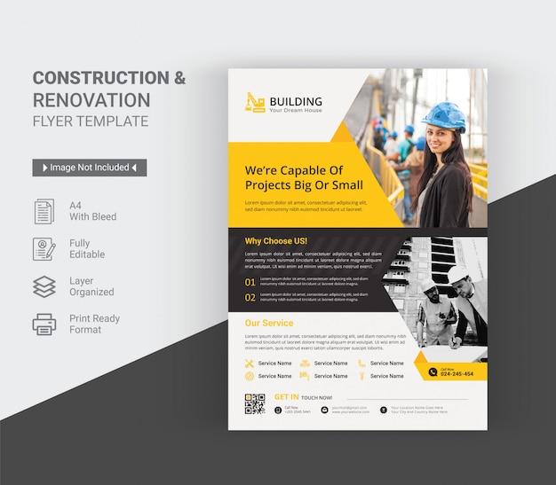 Modelo de folheto - construção e renovação