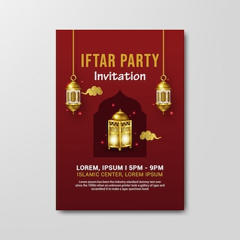 Modelo de folheto - convite para festa iftar