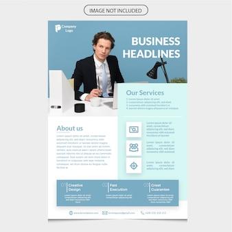 Modelo de folheto corporativo azul