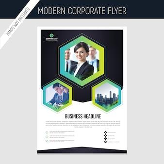 Modelo de folheto corporativo comercial