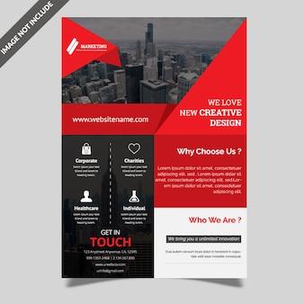 Modelo de folheto - corporativo criativo