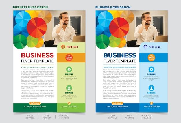 Modelo de folheto corporativo e comercial
