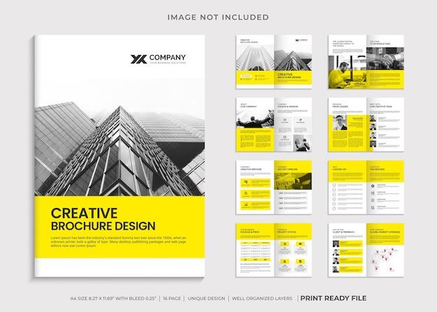 Modelo de folheto corporativo minimalista de várias páginas