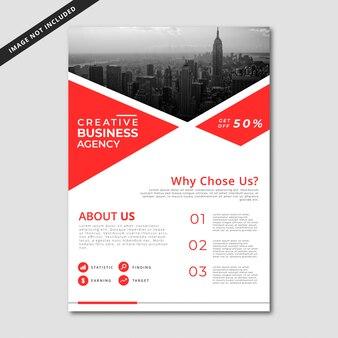 Modelo de folheto corporativo minimalista simples