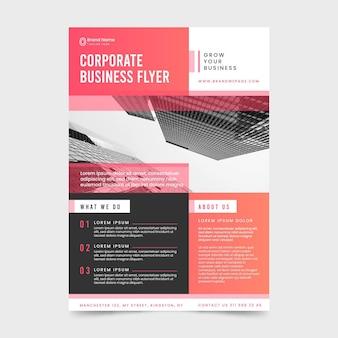 Modelo de folheto corporativo moderno