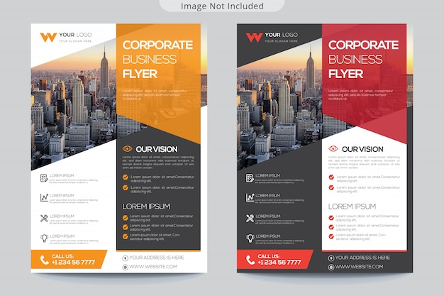Modelo de folheto corporativo para negócios