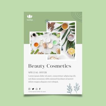 Modelo de folheto cosmético