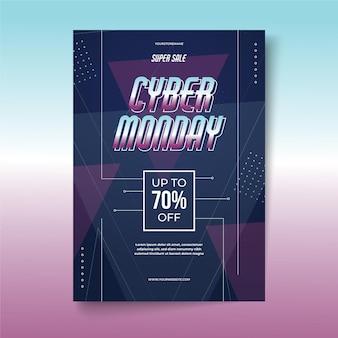 Modelo de folheto criativo de segunda-feira cibernética com oferta especial