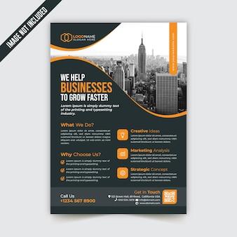 Modelo de folheto criativo e moderno para negócios corporativos