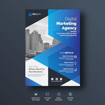 Modelo de folheto - criativo e profissional de negócios corporativos