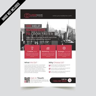 Modelo de folheto criativo empresarial moderno