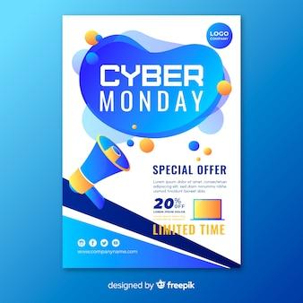 Modelo de folheto - cyber plana segunda-feira