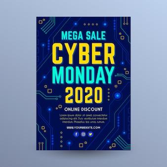 Modelo de folheto da cyber monday