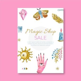 Modelo de folheto da loja mágica