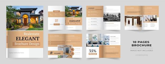 Modelo de folheto de 10 páginas