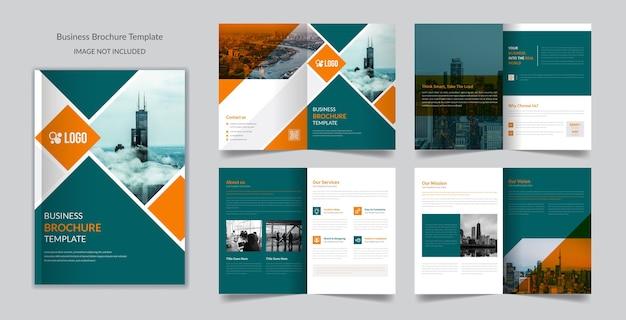 Modelo de folheto de 8 páginas para negócios corporativos modernos criativos profissionais