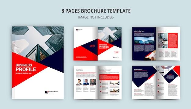 Modelo de folheto de 8 páginas