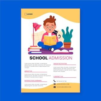 Modelo de folheto de admissão escolar